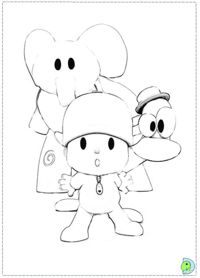 Pin Pocoyo Coloring Pages Sheets on Pinterest