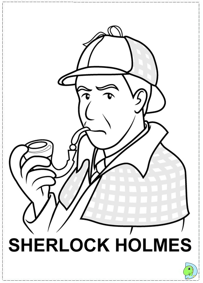 sherlock coloring pages - photo#8