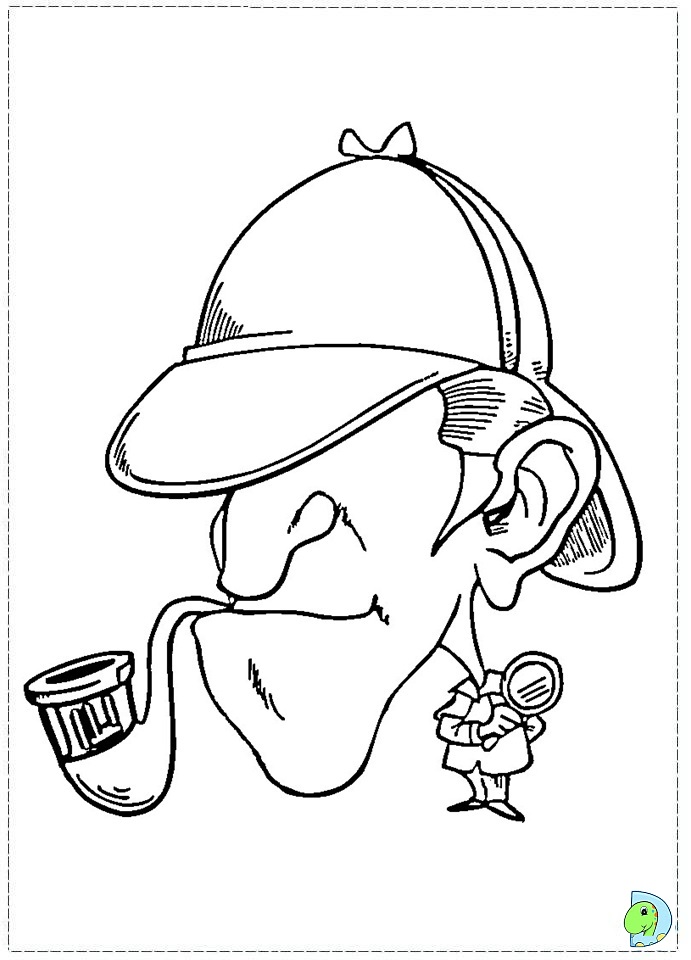 sherlock coloring pages - photo#36