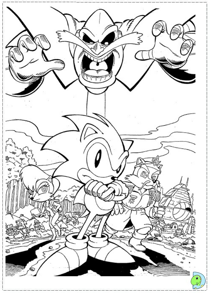 Sonic Heroes Coloring Pages Coloring