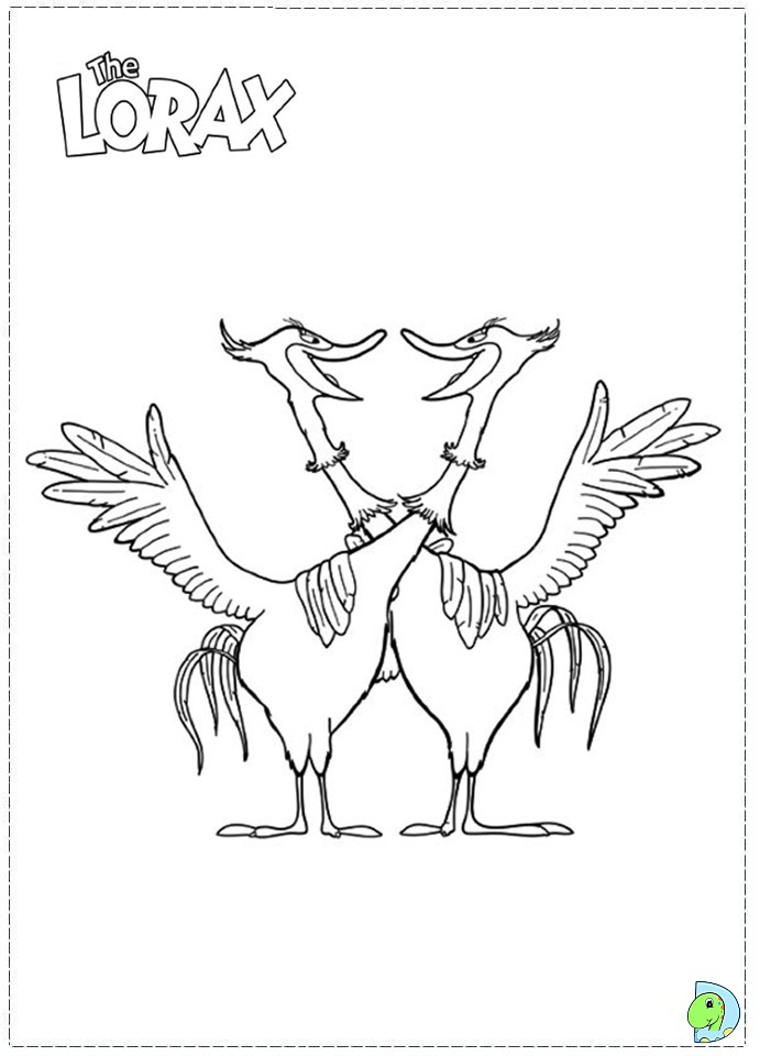 lorax coloring book pages - photo#31