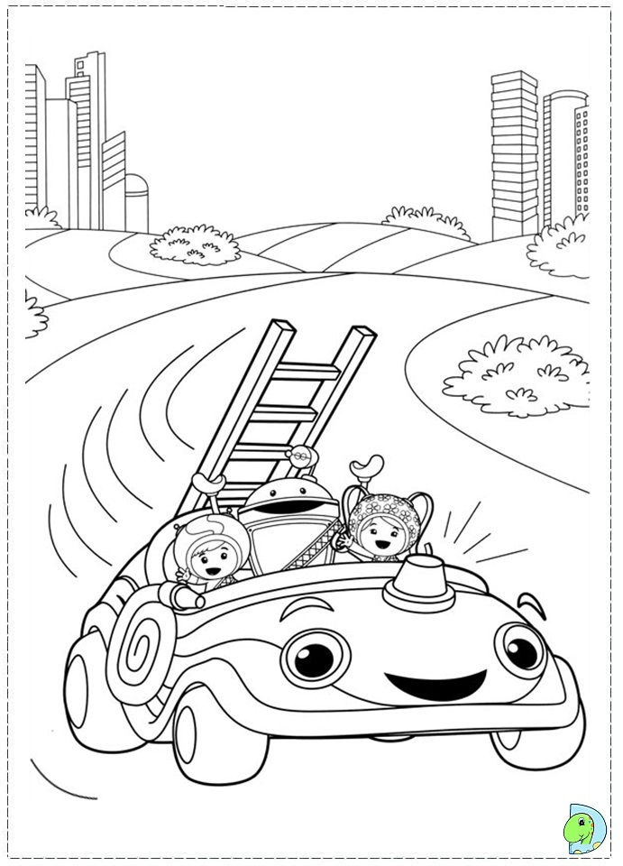 umizoomi coloring page dinokidsorg - Team Umizoomi Bot Coloring Pages