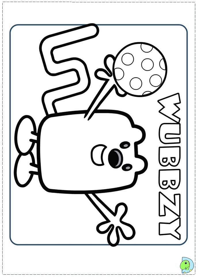 wa wa wubbzy coloring pages - photo #21