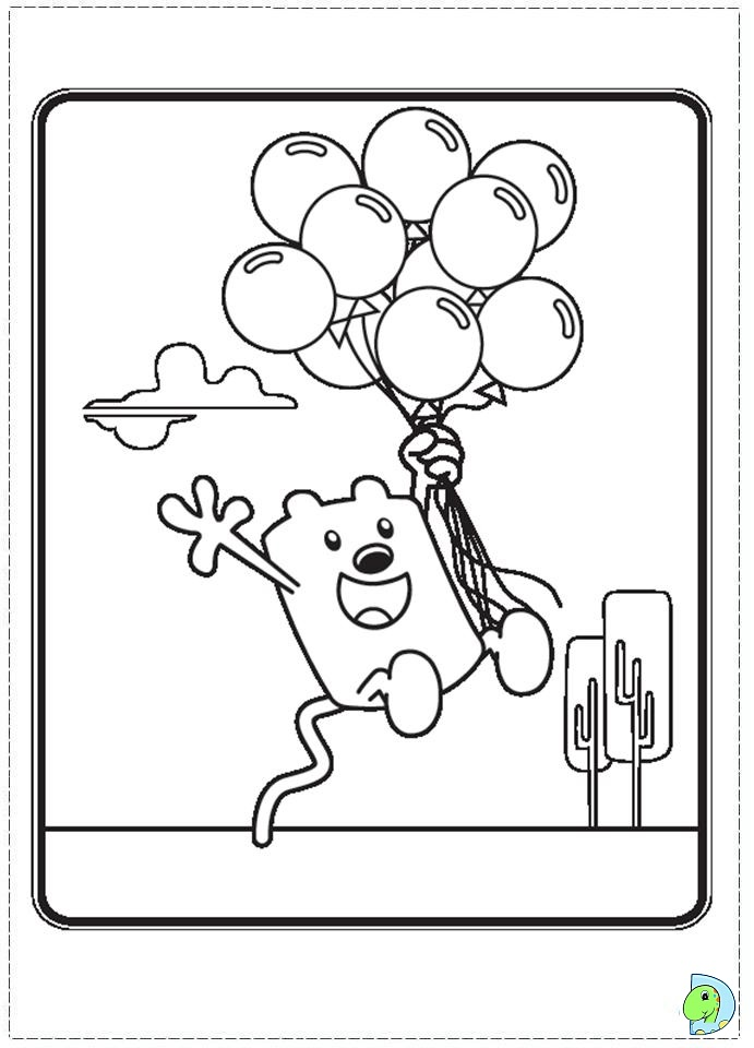 wa wa wubbzy coloring pages - photo #11