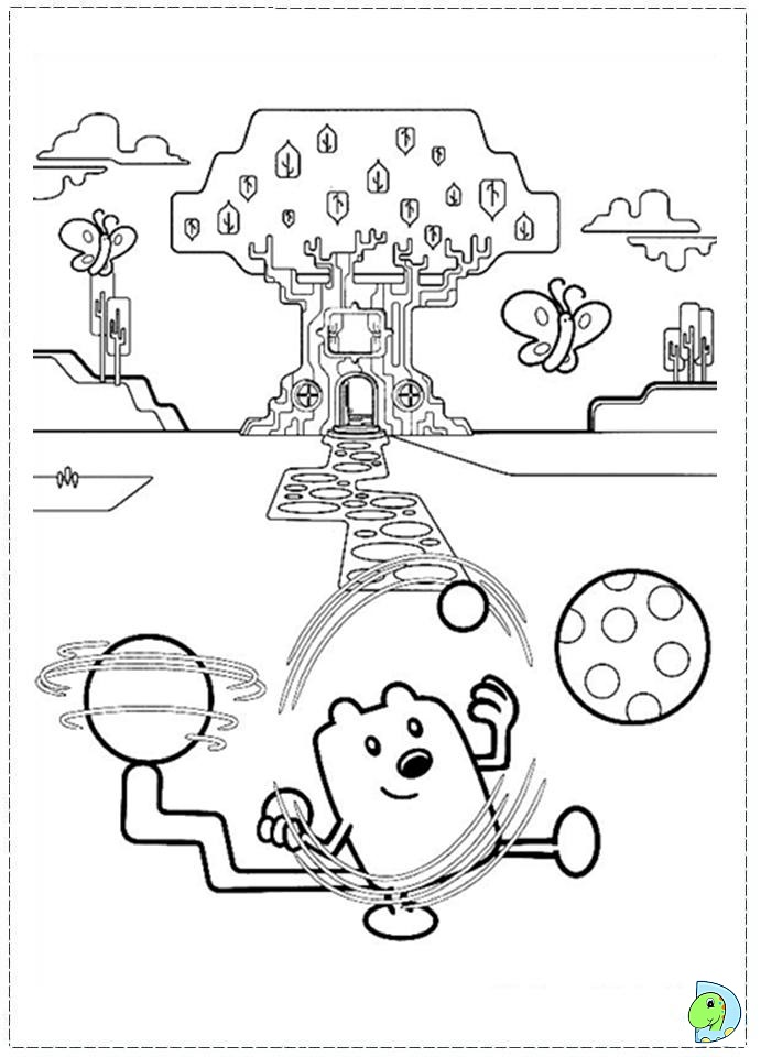 wa wa wubbzy coloring pages - photo #50