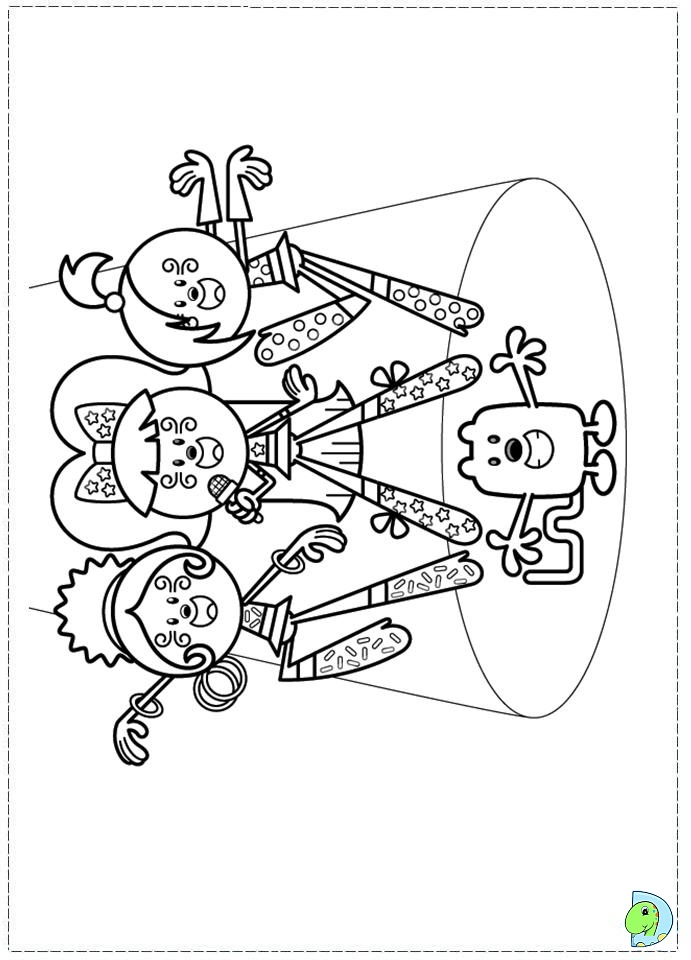 wa wa wubbzy coloring pages - photo #20