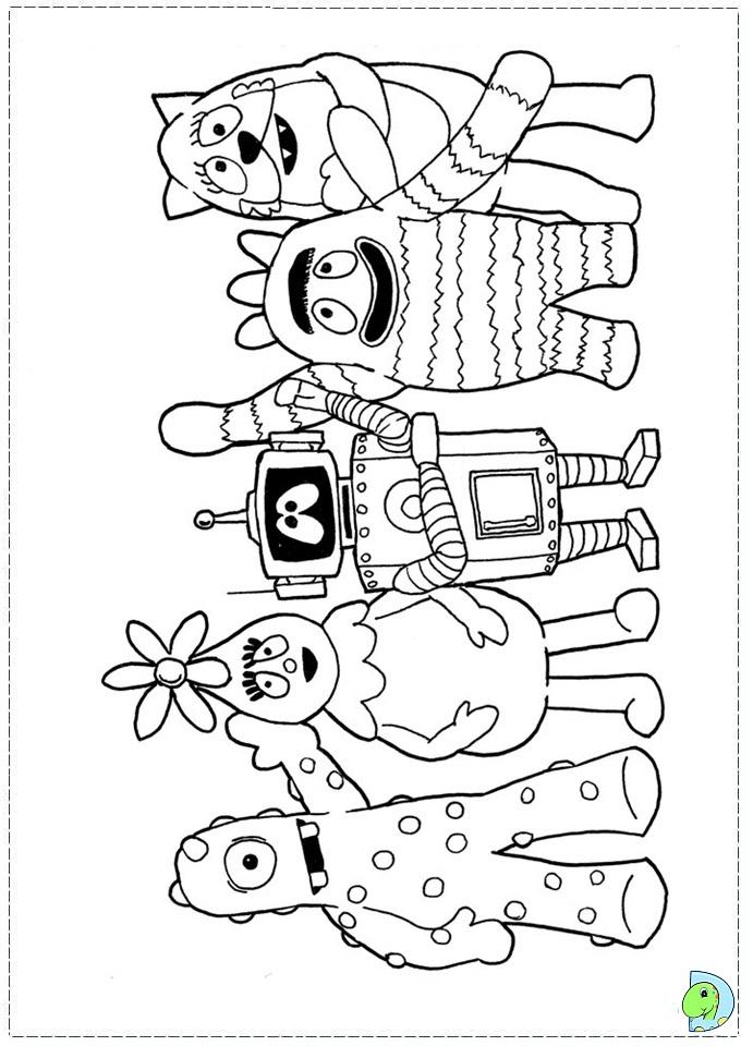 free coloring pages yo gabba gabba - yo gabba gabba plex coloring pages