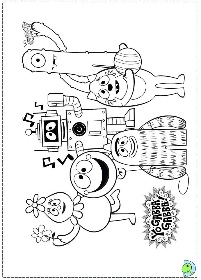 yo gabba gabba coloring pages - photo#49