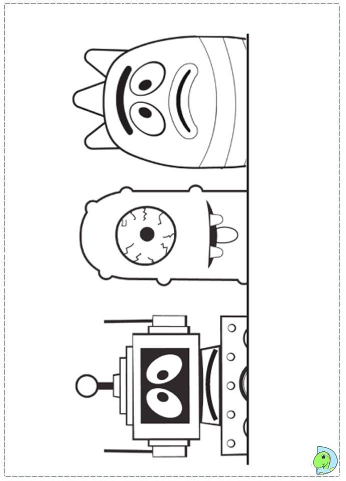 Yo gabba Gabba Coloring page- DinoKids.org