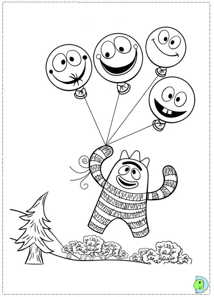 Yo gabba Gabba Coloring page DinoKidsorg