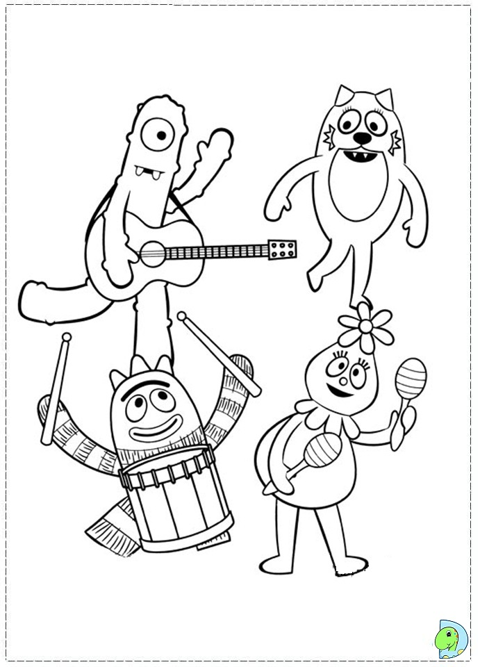 yogabbagabba coloring pages - photo #26