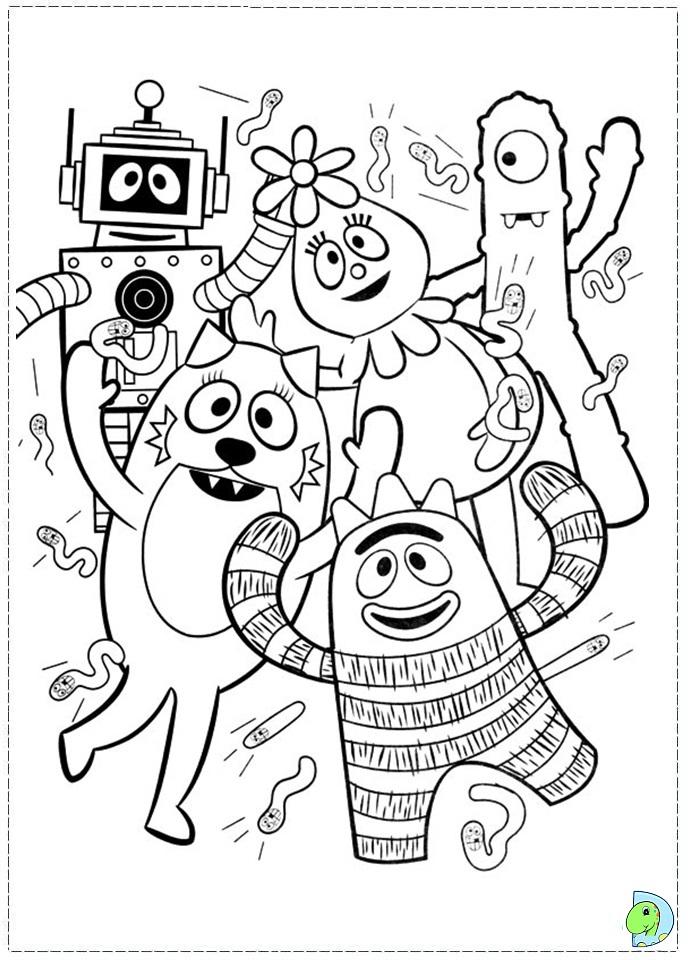 Yo Gabba Gabba Coloring Pages #10