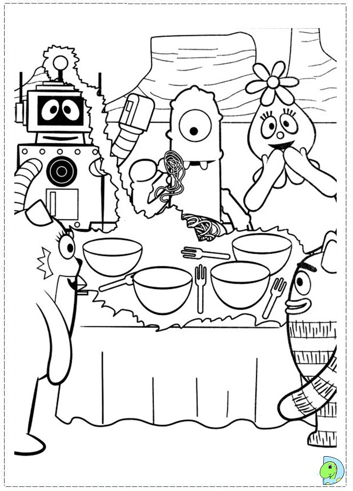 yogabbagabba coloring pages - photo #36