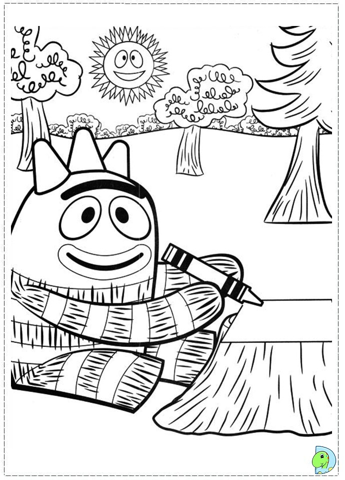 yogabbagabba coloring pages - photo #40