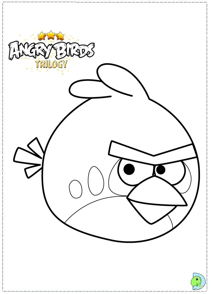 Angry Birds Coloring Pages Chuck