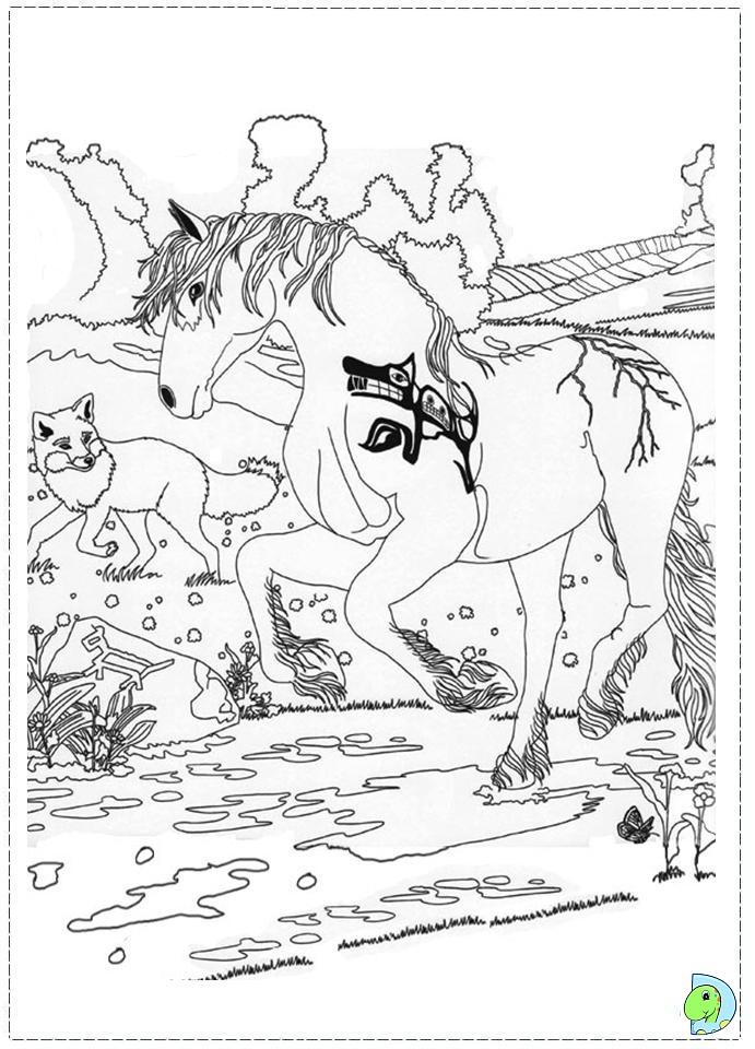 Bella Sara Coloring Page DinoKidsorg