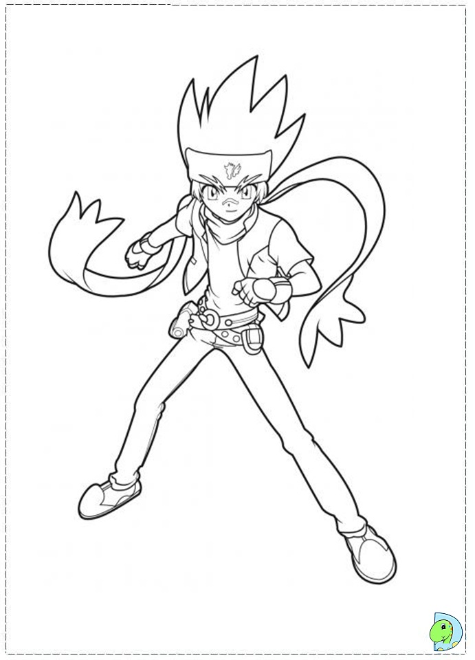 Beyblade Coloring Page Dinokids Org