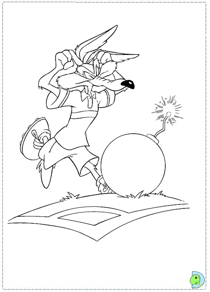 Free Baby Wile E Coyote Coloring Pages Wile E Coyote Coloring Pages