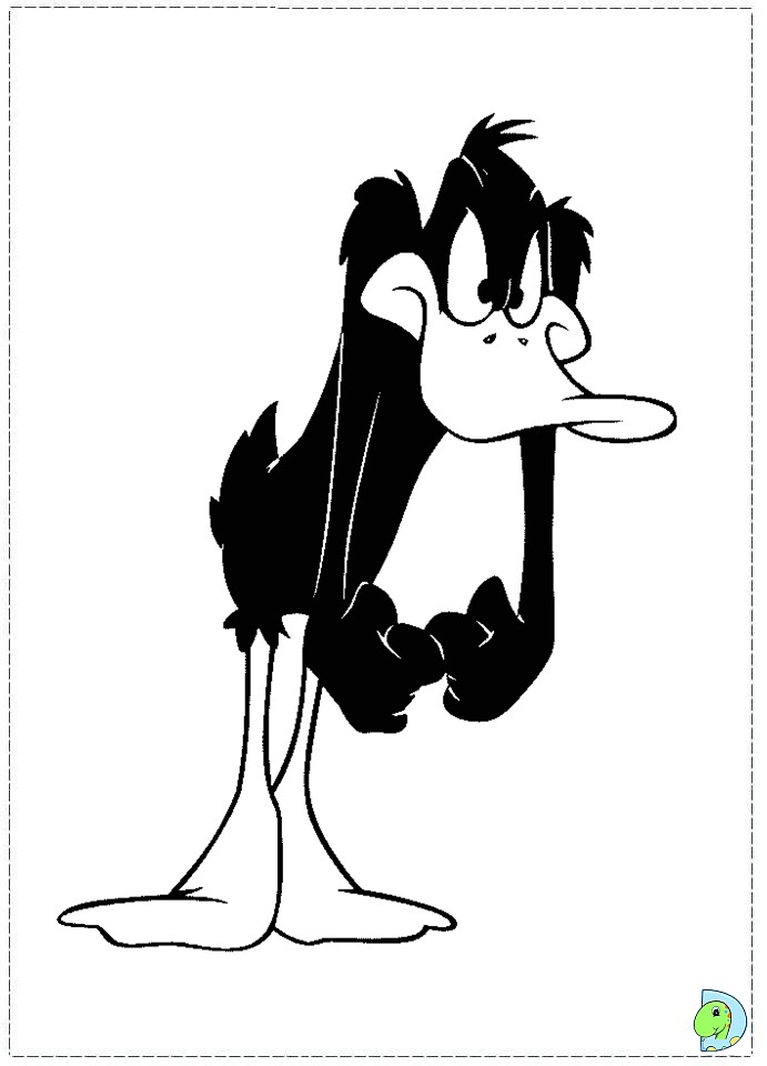 Daffy Duck Coloring page DinoKids