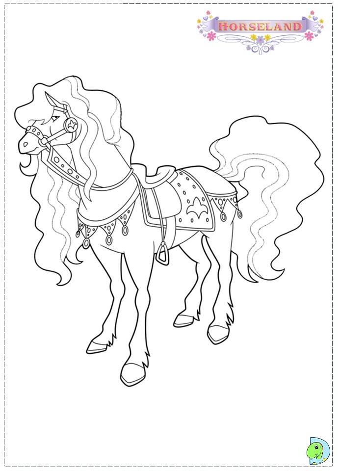 Horseland Coloring Page DinoKidsorg