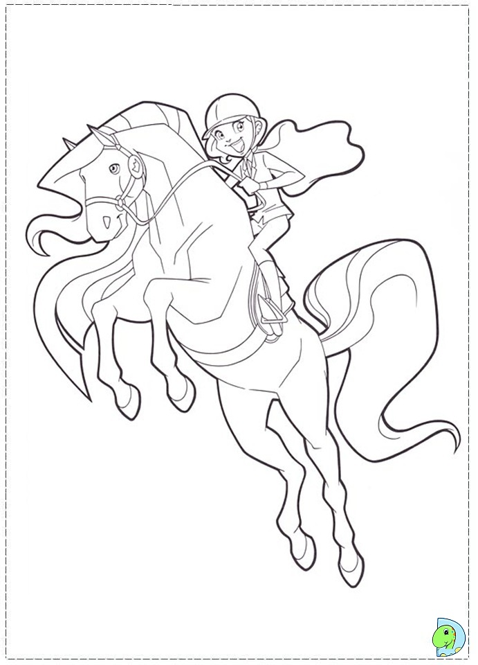Horseland Coloring Pages #9