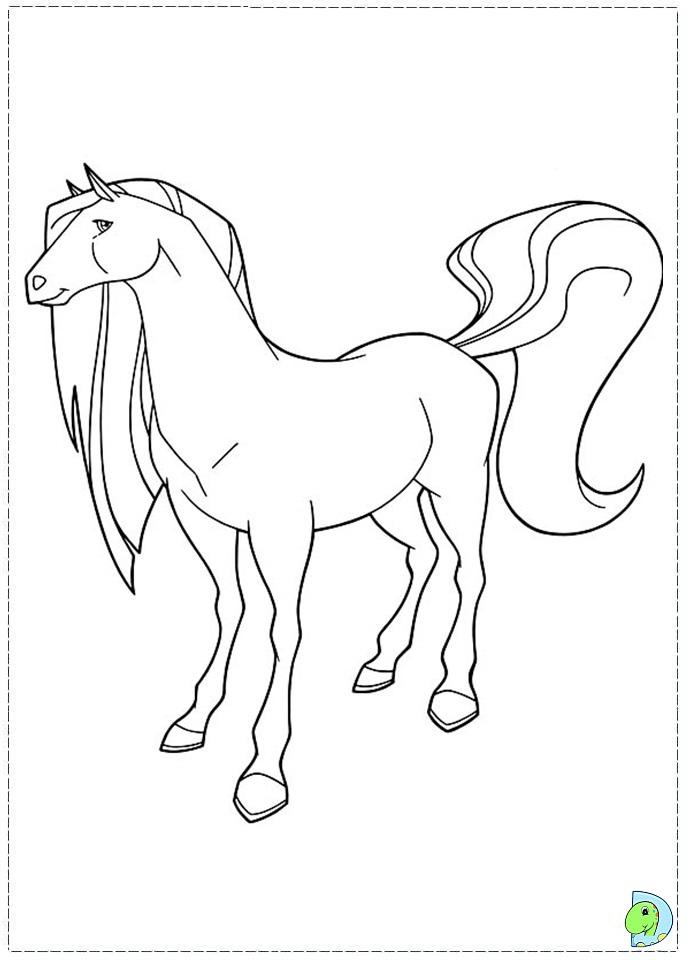 Лошади из мультика раскраски