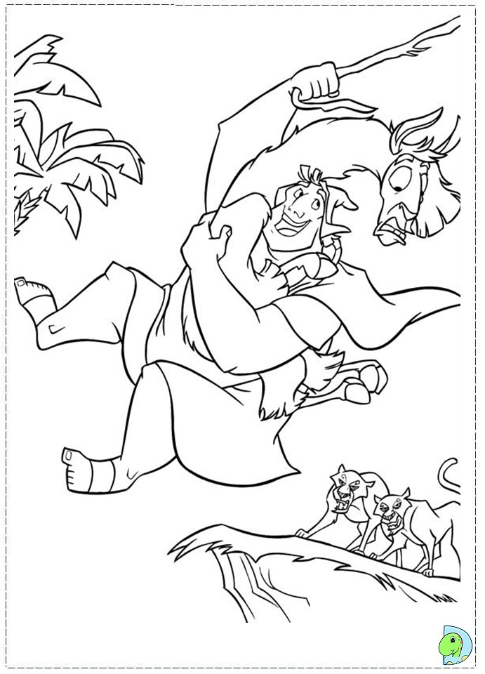 Coloring Pages Of The Emperor S New Groove