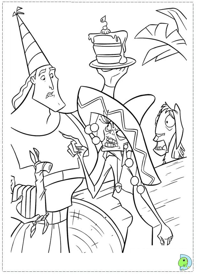 Kronk Coloring Pages Large