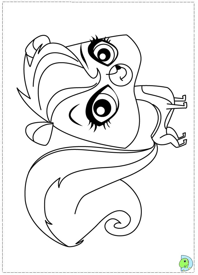 Free lps panda coloring pages for Littlest pet shop coloring pages panda