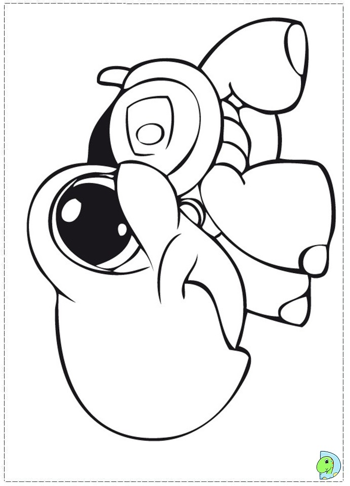free coloring pages of littlest pet shop collie Old LPs Collie  Lps Collie Coloring Pages