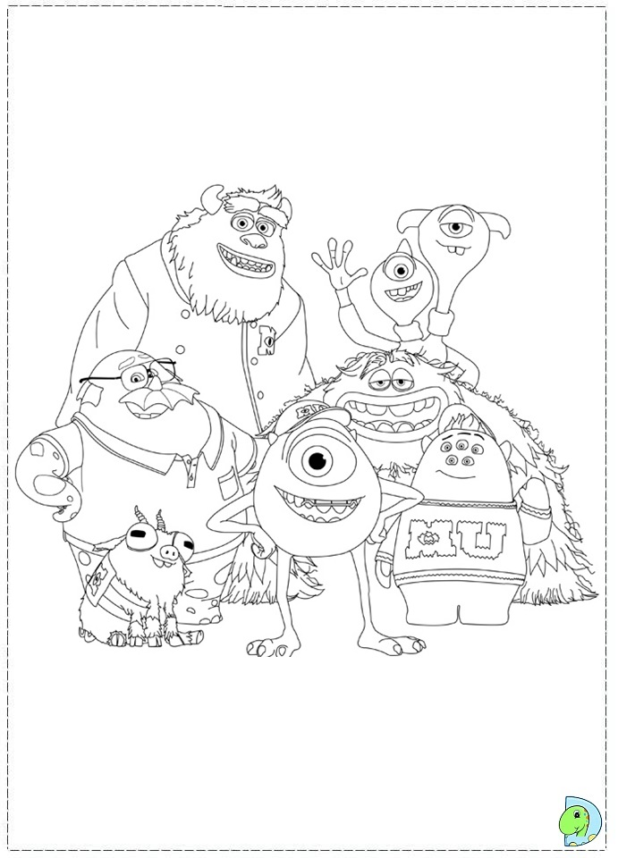 Monsters university coloring page dinokids org Frank McCay Monsters University Coloring Pages Jocs Monsters University Coloring Pages Monsters University Teams Coloring Pages
