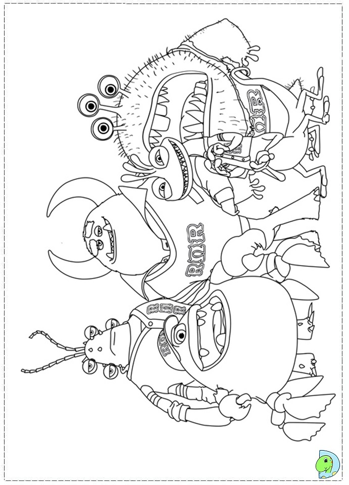 monster university coloring pages - photo#24