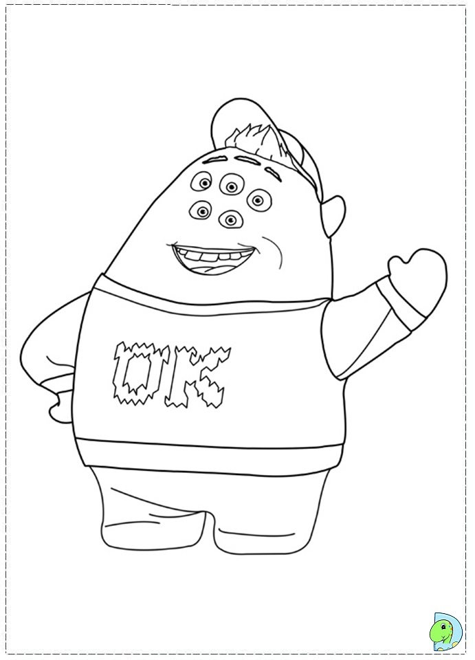 free monsters university coloring pages - photo#24
