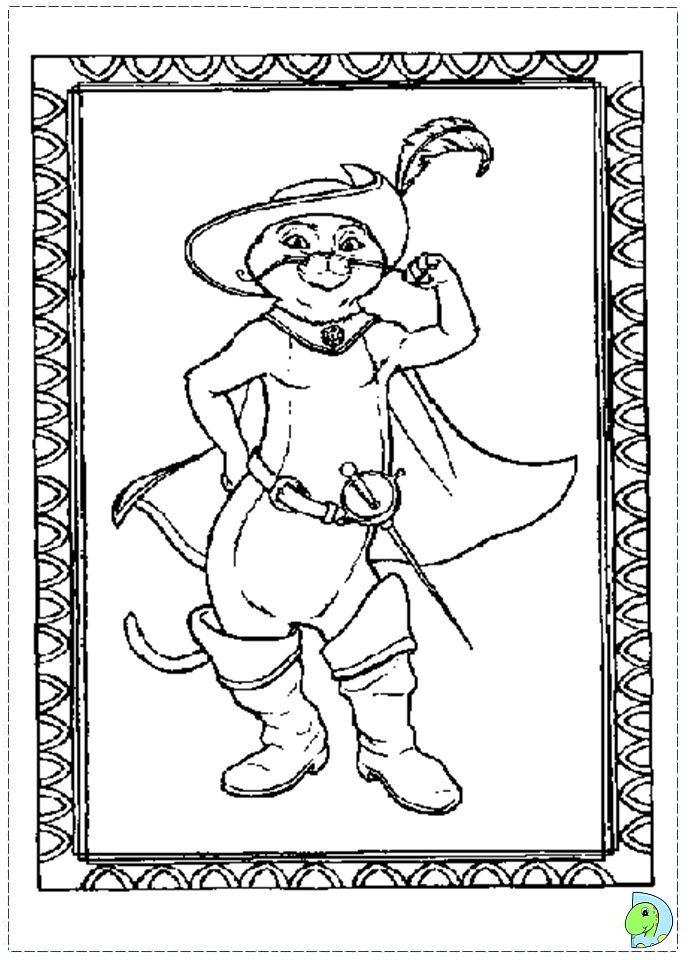 Puss in boots coloring page Coloring book wiki