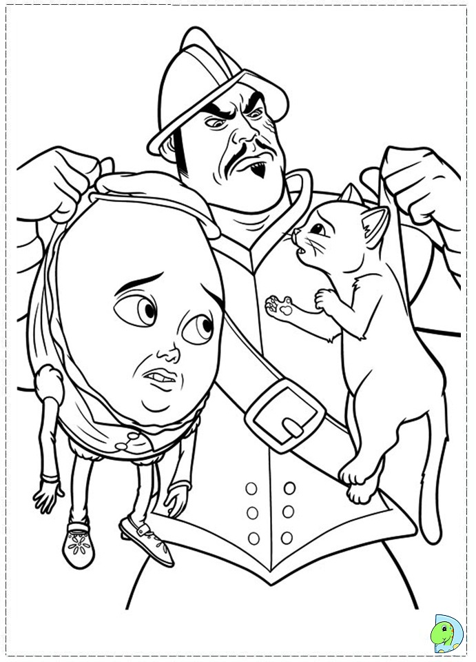 Puss in Boots Coloring page DinoKids
