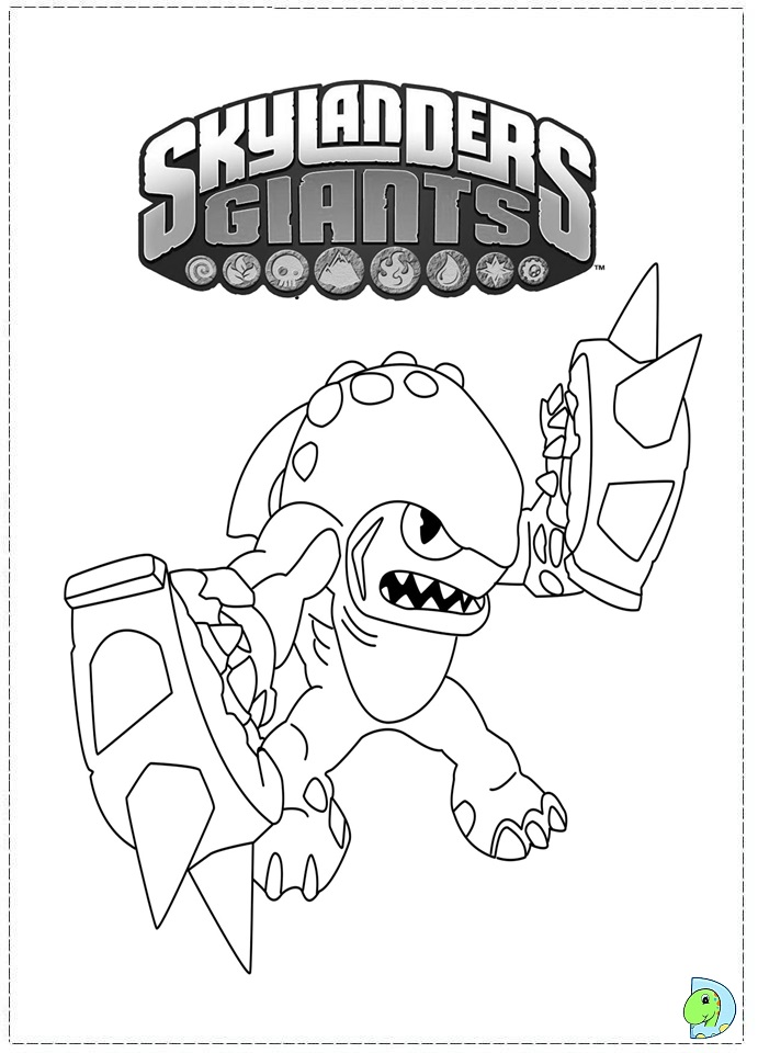 Skylanders Giants Bouncer Printable Coloring Page