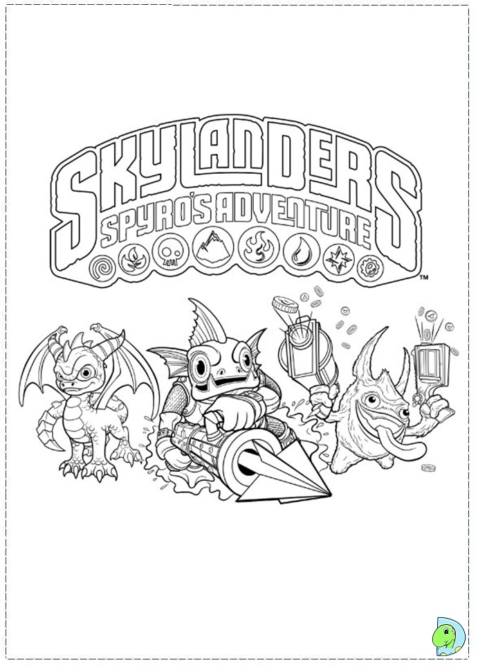 free coloring pages of tree rex skylanders