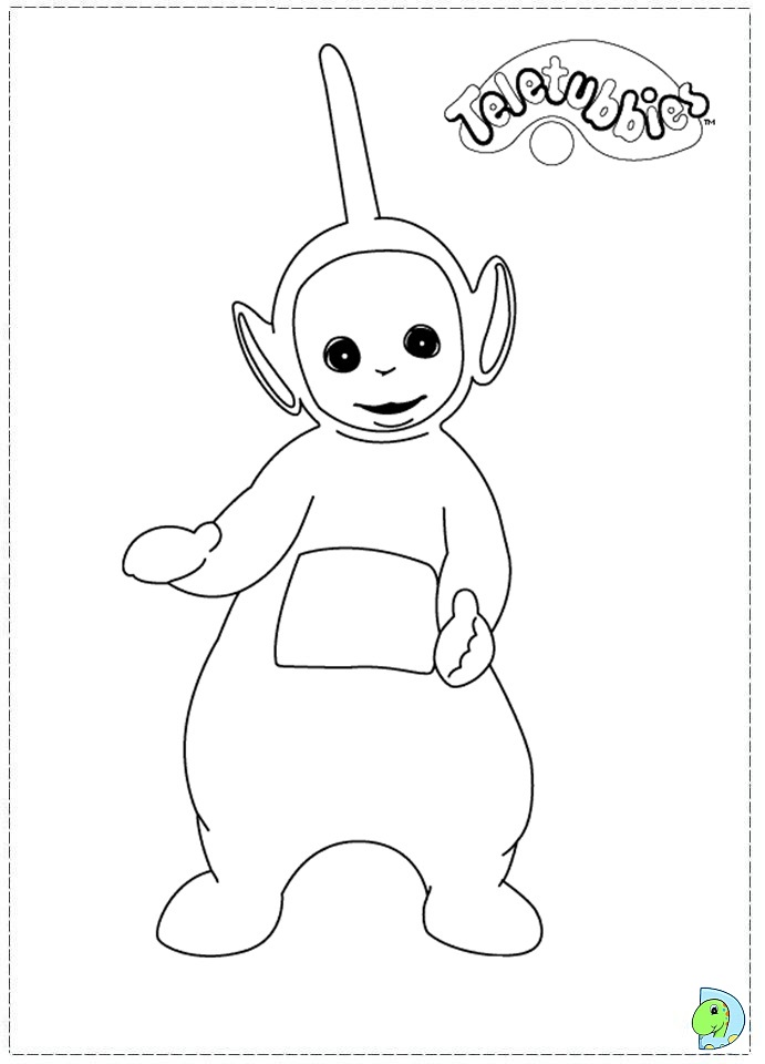 teletubbies dipsy coloring pages - Teletubbies Dipsy Coloring Pages