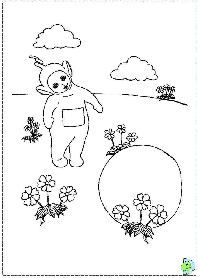 amazing teletubbies coloring page with teletubbies