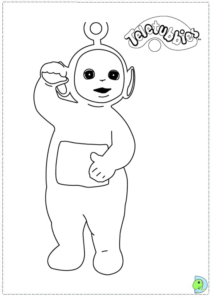 teletubbies coloring page dinokidsorg - Teletubbies Coloring Page
