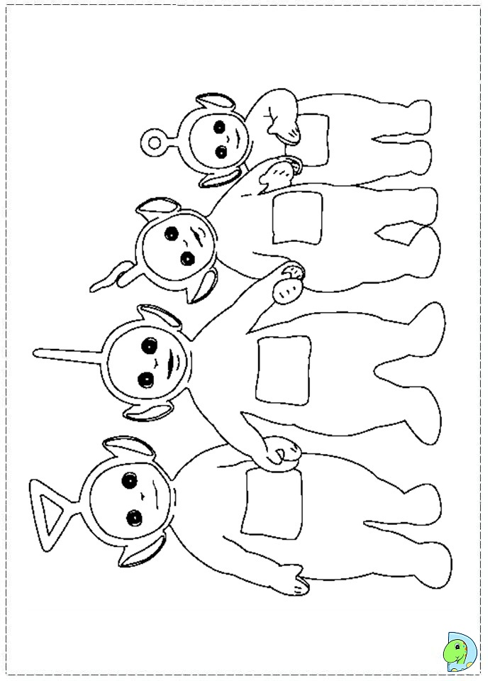 lala teletubbies pages coloring pages