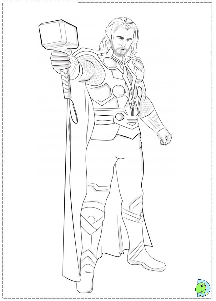 Thor Coloring Pages Thor Coloring Pages