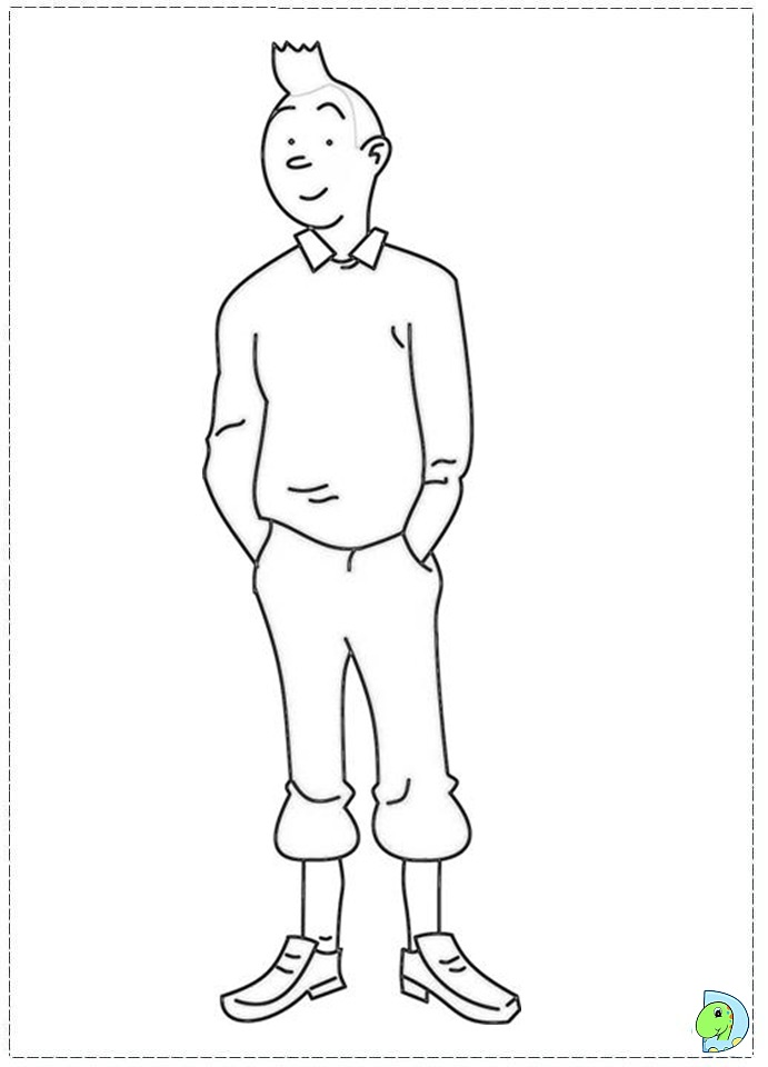 Tintin Printable Coloring Pages Tintin Coloring Pages