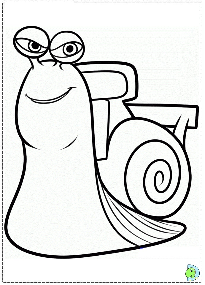 turbo the snail coloring pages coloring pages