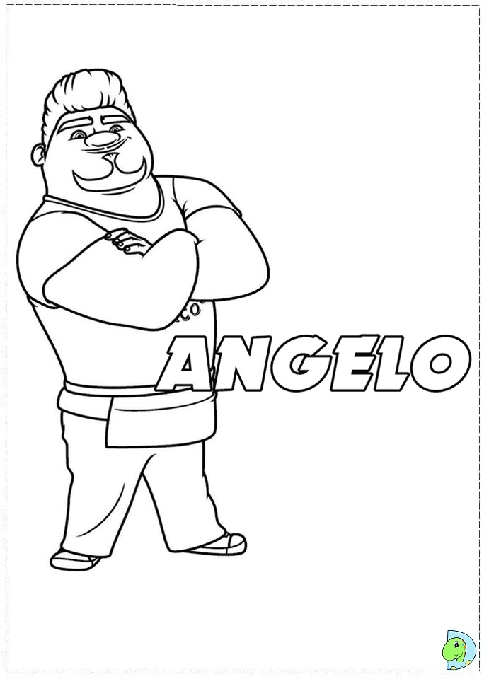 Turbo coloring pages
