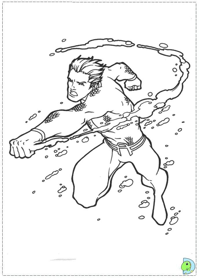 aquaman symbol coloring pages - photo#7