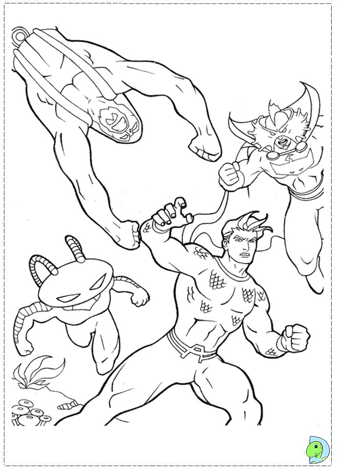 aquaman symbol coloring pages - photo#37