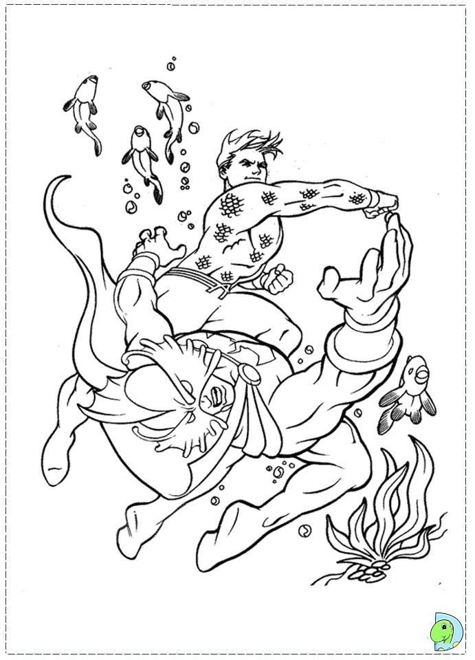 aquaman symbol coloring pages - photo#16