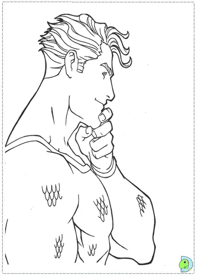 aquaman symbol coloring pages - photo#19