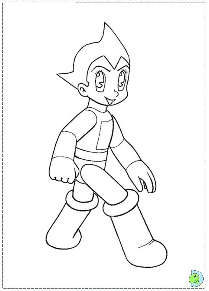 Astro Boy Coloring page- DinoKids.org